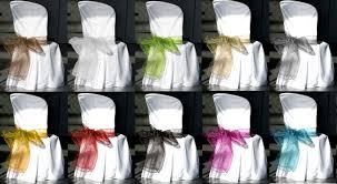 ruban pour noeud de chaise noeud geant de chaise en organza parme decoration de table