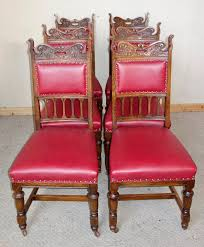 Set Of 6 Edwardian Oak Leather Dining Chairs C.1910 ... Oak Ding Chairs Ding Room Set With Caster Chairs Wooden Youll Love In Your The Brick Swivel For Office Oak With Casters Office Chair On Casters Art Fniture Inc Valencia 2092162304 Leather Brooks Rooms Az Of Fniture Terminology To Know When Buying At Auction High Back Faux Home Decoration 2019 Awesome Hall Antique Kitchen Ten Shiloh Upholstered Pisa Gray Ikea Ireland Cadejiduyeco
