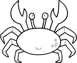 Crab Coloring Pages Toddler Childrens Bible Printable Color Farm Animals Free