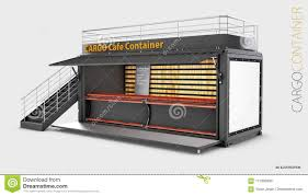 100 Shipping Containers Converted Old Container Into Cafe 3d Illustration Isolated