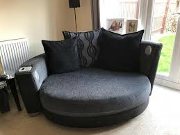 Extra Large Round Sofa Cuddle Love Chair Black And Grey | In Hilton,  Derbyshire | Gumtree For Glass Room Chair Vico Set Ding Gloss And Round Chairs Nottingham Rustic Solid Wood Black Table Diy End Tables With Funky Fresh Designs Small Living Large Round Swivel Chair In Lisvane Cardiff Gumtree Rh Homepage Swivel Amazon Rocker Arm Modern Interior Of Modern Ding Room With White Walls Wooden Floor Ikea Eaging Ideas Decor Extra Lighting Oversized Relaxing In Front Of Fniturebox Uk Vogue Circular Chrome Metal Clear 6 Seater Lorenzo 4 Fniture