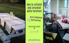 how to refinish and refurbish patio furniture diy wood furniture