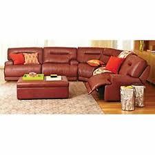 Macy s Ricardo Cognac Leather Quad Power Reclining Sectional Sofa Set
