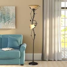 72 Bronze Torchiere Floor Lamp by Alcott Hill Crystal 72