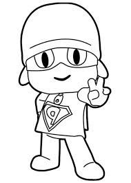 Super Pocoyo Colorear Pinterest Coloring Pages Coloring Pages