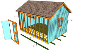 Free 10x12 Gable Shed Plans by How To Build A 12x16 Shed Howtospecialist How To Build Step