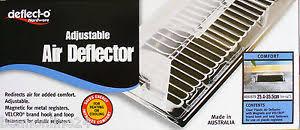 Adjustable Floor Register Deflector by Clear Acrylic Air Deflector For Floor Registers Vents Ducted