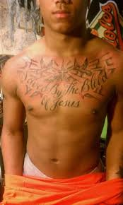 Cross Tattoo On Chest Photo 3