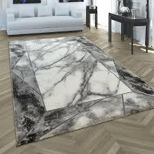 teppich schlafzimmer in marmor muster bordüre teppich