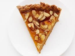 Pumpkin Praline Pie Cooks Illustrated by Amaretto Pumpkin Pie With Almond Praline Recipe Food Network