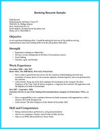 Resume For Banking Industry Bank Teller Cover Letter