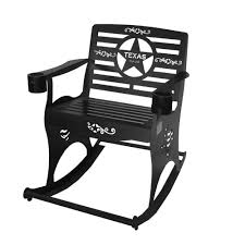 Texas Rocker 0 All Seasons Equipment Heavy Duty Metal Rocking Chair W The Top Outdoor Patio Fniture Brands Cane Back Womans Hat Victorian Bedroom Remi Mexican Spalted Oak Taracea Leigh Country With Texas Longhorn Medallion Classic Porch Rocker Ladderback White Solid Wood Antique Rocking Chair Wood Rustic Pagadget Worlds Largest Cedar Star Of Black