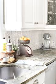 Tin Tiles For Backsplash by Diy Pressed Tin Kitchen Backsplash Bless U0027er House