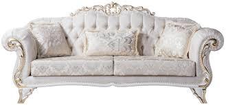 casa padrino luxus barock wohnzimmer sofa mit dekorativen kissen creme weiß gold 220 x 90 x h 101 cm barock möbel edel prunkvoll