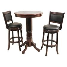 Pub Table With Pedestal Base In Dark Brown DWG 189 T Distressed ...