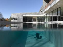 100 2 Story House With Pool Two With Rough Stone Facade_Stone Cases_Stonexp
