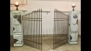 Halloween Cemetery Fence by Halloween Cemetery Pillars Walk Through Youtube