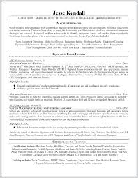 Resume Summary Examples Machine Operator Plus Samples For Truck Drivers With An Objective Make Cool Statement 564
