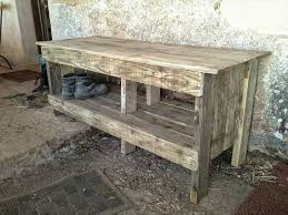 DIY Pallet Entryway Bench With Shoe Rack