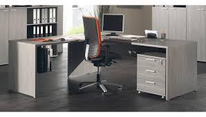 matelpro bureau bureau d angle contemporain coloris bouleau gris alrun soldes