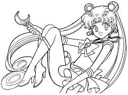 Sailor Moon Coloring Pages Free Printable For Kids Images