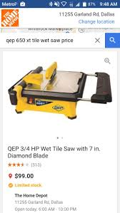 Qep Tile Saw 650xt by Qep 650 Xt W Extention Table Tile Wet Saw For Sale In Mesquite Tx