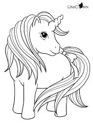 Baby Unicorn Free Coloring Page O Kids Unicorns Pages