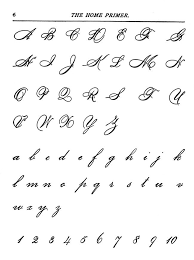 Capital Letters In Cursive
