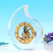 desk gorgeous waterford crystal small octagon desk clock 116