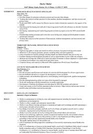 Download Health Science Resume Sample As Image File