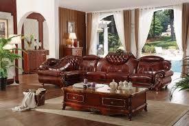 canapé cuir et bois rustique salon cuvette rustique cuir et chêne fauteuil relax table basse