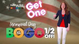 Furniture Mall of Kansas Memorial Day BOGO Half f