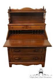 Ethan Allen Cherry Secretary Desk by High End Used Furniture Davis Cabinet Lillian Russell Walnut