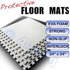 Foam Tile Flooring With Diamond Plate Texture by White Garage Workshop Anti Fatigue Flooring Mats Tiles
