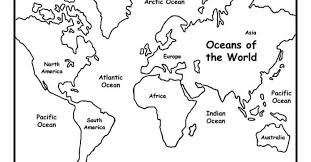 World Map Coloring Pages Kids Printable