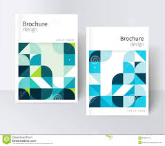 Cover For Catalog Report Brochure Poster Blue And Green Abstract