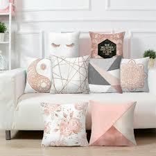 gold rosa weiß kissen hüllen dekokissen kissenbezug