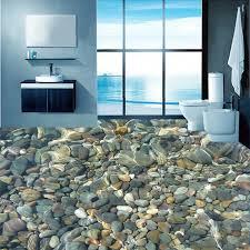 moderne 3d lebensechte pebble bodenbelag wandbild tapete bad wasserdicht mode interior design pvc boden fliesen tapete aufkleber