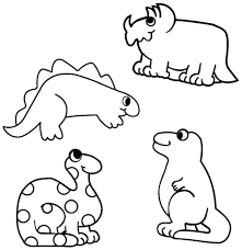 Dinosaur Coloring Pages For Preschoolers 2