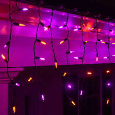 Halloween Flickering Light Bulbs by Led Christmas Lights 70 M5 Purple Orange Halloween Led Icicle