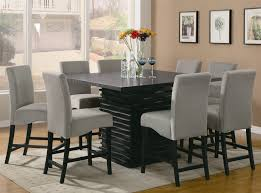 stanton 5 piece counter height dining set in rich black finish by