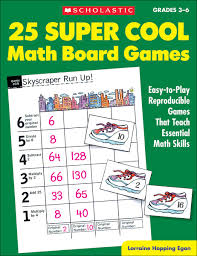 Amazon 25 Super Cool Math Board Games Easy To Play Reproducible That Teach Essential Skills Grades 3 6 0078073378722 Lorraine Hopping