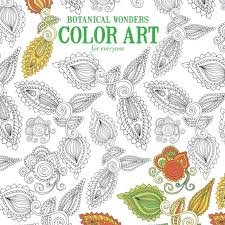 Coloring Book For Adult Botanical Wonders Page Leaf Leaves Inspire Leisure Art