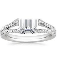 Split Shank Halo Engagement Ring Fortuna