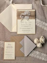 Elegant Rustic Wedding Invitations With Lace And Burlap Best