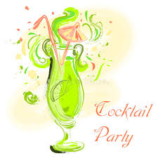 Download Cocktail With Lime And Umbrella Vintage Hand Drawn Vector Illustration Party Design