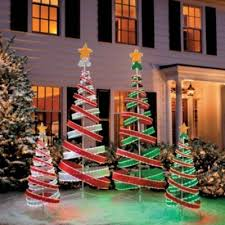 Innovation Ideas Spiral Christmas Tree Outdoor 3 Diy Green Outdoors Pertaining To Set