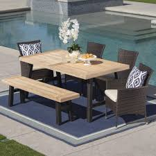 Noble House 6-Piece Wicker, Wood And Iron Rectangular Outdoor Dining ... Teak Hardwood Ash Wicker Ding Side Chair 2pk Naples Beautiful Room Table Wglass Model N24 By Rattan Kitchen Youtube Pacific Rectangular Outdoor Patio With 6 Armless 56 Indoor Set Looks Like 30 Ikea Fniture Sicillian 8 Seater Square Stone And Chairs In Half 100 Handmade Tablein Garden Sets Burridge 4ft Round In Antique White Oak World New Ideas Awesome Unique Black