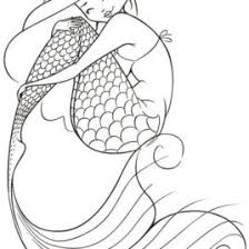 Adult Coloring Pages Mermaid AZ