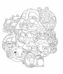 Marvellous Printable Angry Birds Star Wars Coloring Pages Page